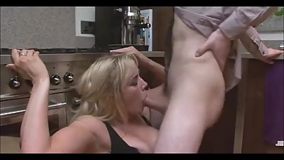 Sexy milf with young boy