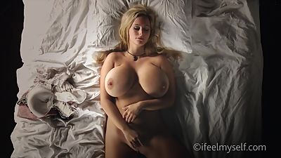 Blond godess touching herself p1