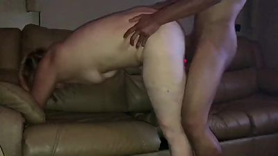 "Tight white girl takes HUGE 11"" BBC.."
