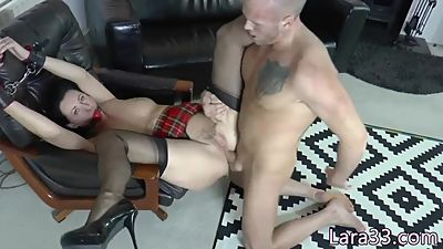 Ballgagged UK milf analfucked while..