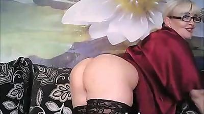 Attractive Blonde Mature Masturbating..