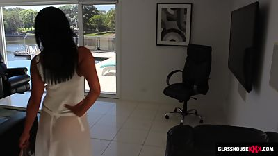 SPY CAM - Hot Milf in white lingerie!..