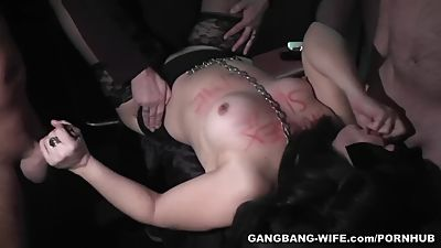 Degrading gangbangs with sex slave..