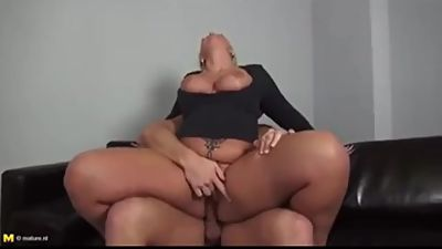 Milf with young small dick
