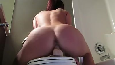 step mom riding her dildo