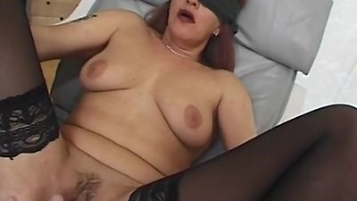 Blindfolded and Tied Mama Fucked With..