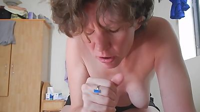 Shel, 44 year old milf sucking dick..