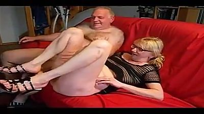 Amateur - Bisex Mature Blond Couple -..