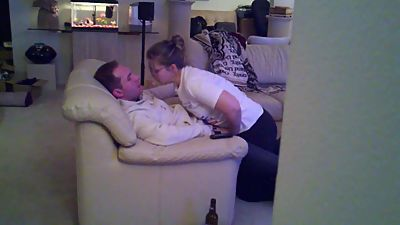 Cuckold Hot Wife Blowjob and Handjob..