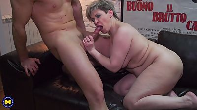 Mature chubby mom Tasmara fucked in..