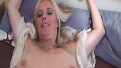 Blonde German MILF Fucks on Homemade
