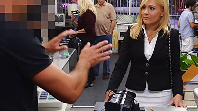 Blonde MILF Banged in the PawnShop -..