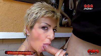 Mature Mother loves piss from younger..