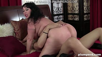 Horny BBW MILF Fucks and Sucks Big..