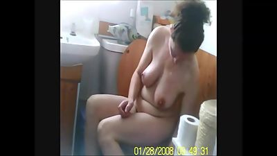 Voyeur capture naked big tits wife..