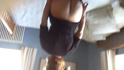 Horny british wife bending over and..