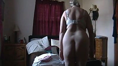 Kim Bates strips naked. Plays with new..