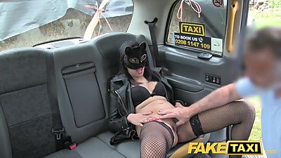 Fake Taxi Pussy cat role playing..