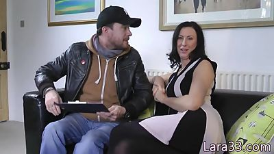 UK mature jizzed on asshole after..