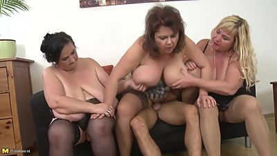 Three mamas wanna party with big hunk..
