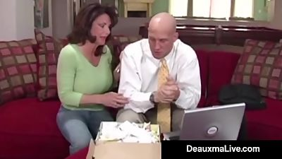 Busty Cougar Deauxma Fucks The Tax Man..