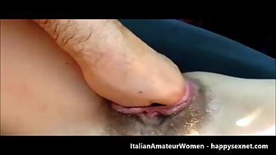 Fisting pussy of my italian bitch.