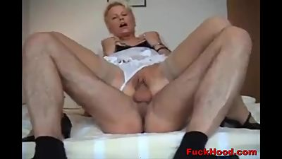 Horny Milf Maid Blows & Bangs Stranger..